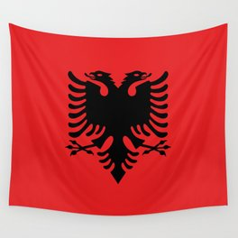 Albanian Flag - Hight Quality image Wall Tapestry