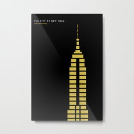 New York Skyline: Empire State Building Metal Print