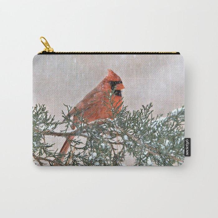 Snowfall Cardinal Carry-All Pouch