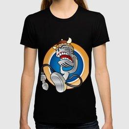 Cartoon vintage microphone T-shirt