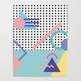 Memphis Pattern 5 - 80s - 90s - Retro Poster