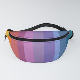 Modern Bright Rainbow Abstract Stripes Fanny Pack