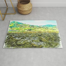 Hortus Conclusus: clods of earth and landscape Rug
