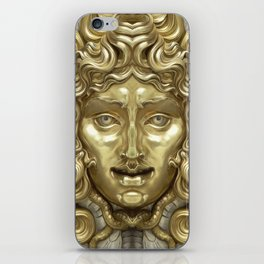 """""""Ancient Golden and Silver Medusa Myth"""" iPhone Skin"""