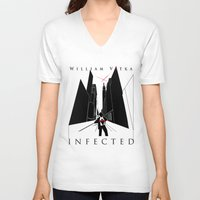 book cover V-neck T-shirts featuring Infected - Book Cover by svitka