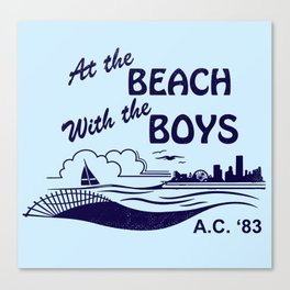 At the Beach with the Boys Canvas Print