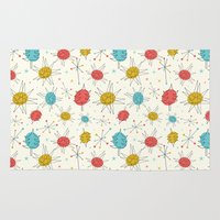 mid century Area & Throw Rugs featuring Mid-Century Holiday Season by There is no spoon