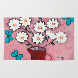 Daisies and Friends Rug