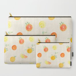 Citrus Fruits Print Carry-All Pouch