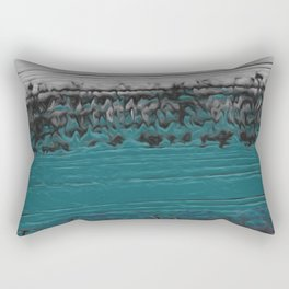 Teal and Gray Abstract Rectangular Pillow