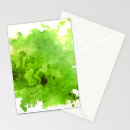 Green on Green Stationery Cards