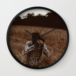 Retro Photographer Wall Clock