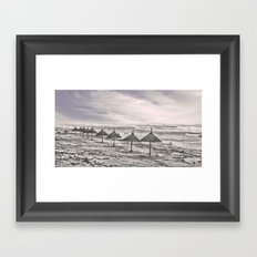 Huts in a row Framed Art Print