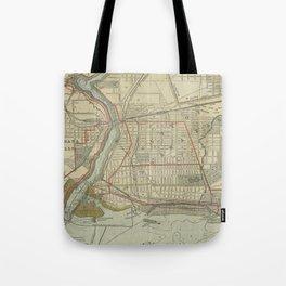 Vintage Map of Niagara Falls NY (1893) Tote Bag