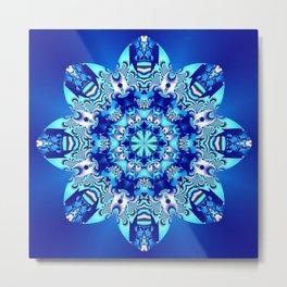 The blue snowflake Metal Print