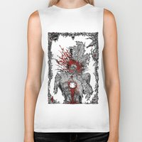 mad hatter Biker Tanks featuring Mad Hatter by Mongolizer
