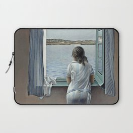 Salvador Dali Young Woman at a Window 1925 Artwork for Wall Art, Prints, Posters, Tshirts, Mwn, Women, Youth Laptop Sleeve
