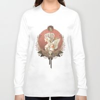 bianca Long Sleeve T-shirts featuring Bianca des Anges by Mar del Valle