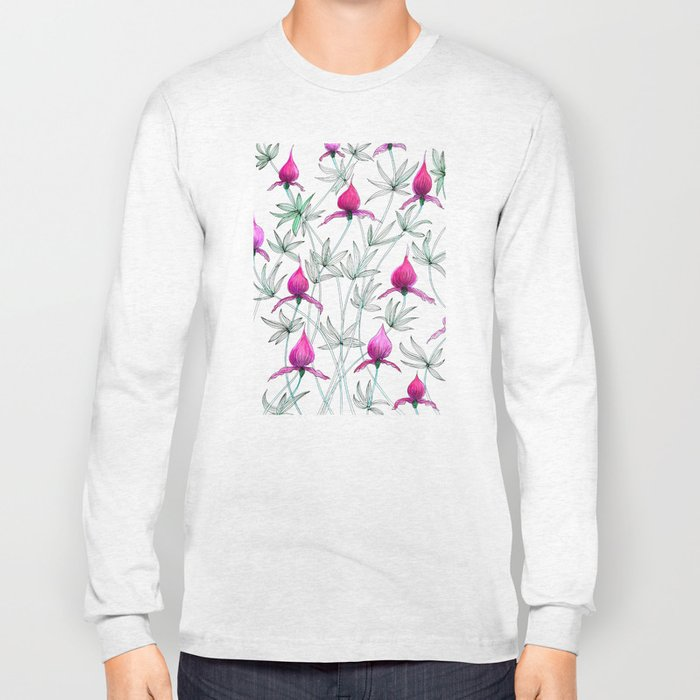 small purple flowers Long Sleeve T-shirt