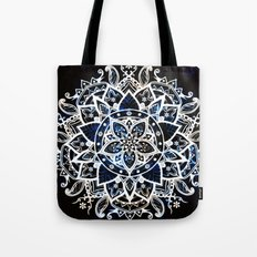 Radiant Zen Glowing Mandala Tote Bag