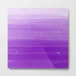 Violet Paint Gradient Metal Print
