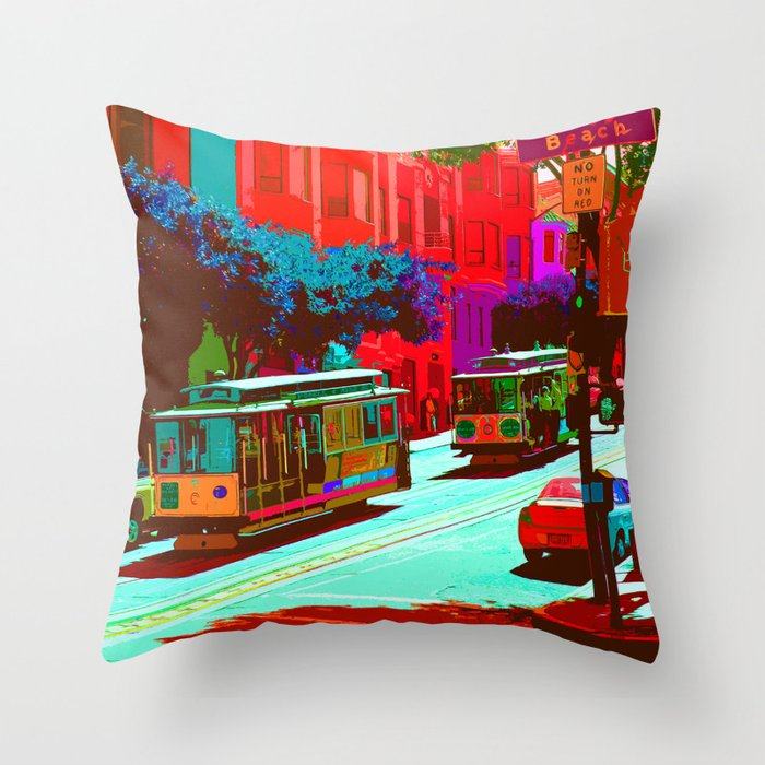 San Francisco 005 Throw Pillow by jamfoto Society6