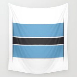 Flag of Botswana. The slit in the paper with shadows.  Wall Tapestry