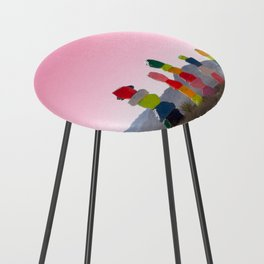 Seven Magic Mountains with Pink Sky - Las Vegas Counter Stool