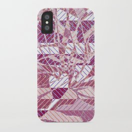 pink mosaic iPhone Case