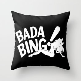Bada Bing Club The Sopranos Throw Pillow