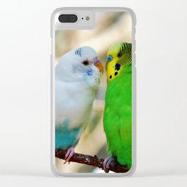 Budgie Friends Clear iPhone Case