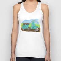 vespa Tank Tops featuring Vespa by JasonKoons