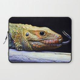Caiman Lizard Profile Laptop Sleeve
