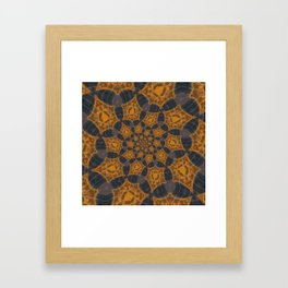 Round and Roud Framed Art Print