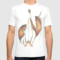 Lobster Tales MEDIUM White Mens Fitted Tee