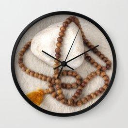Spirituality. Tibetan mala beads. Wall Clock