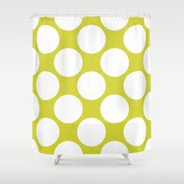 Polka Dots Green Shower Curtain