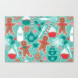 Gingerbread Christmas Treats Canvas Print