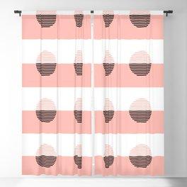 Horizons Geometric Sun Shine Stripe Design 7 - Peach Pink Blackout Curtain