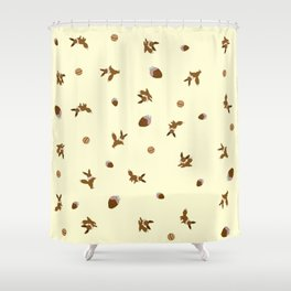 Eevee Chocolate Lemon Strawberry Print Shower Curtain
