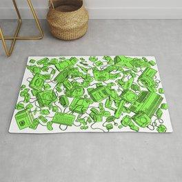 Vintage Gamer Green Rug