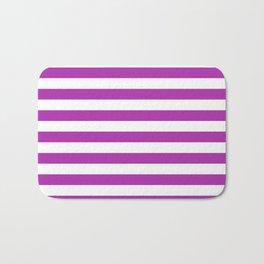 Stripes (Purple & White Pattern) Bath Mat