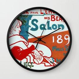 Liège 1896 Art salon Wall Clock