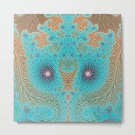 Aquae Mirrored - Fractal Art Design Metal Print