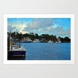 Calabash Waterfront Art Print