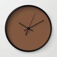 chocolate Wall Clocks featuring Chocolate by Ice Cream Theory