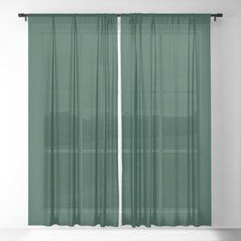 Deep Green Sheer Curtain