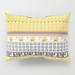 Fair Isle Christmas Alpaca Pattern Pillow Sham