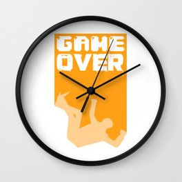 Gamer Game Over Gambling Loser Funny Gift Wall Clock