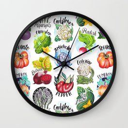 Vegetables Pattern Wall Clock